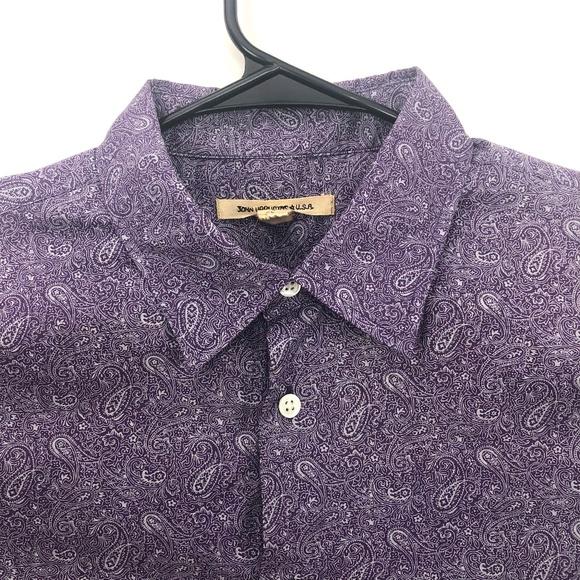 John Varvatos Other - John Varvatos Paisley Button Shirt Purple Large